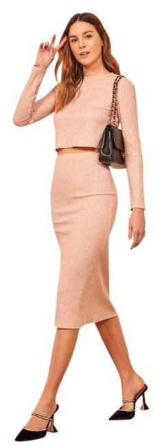 Item - Pink Shimmer Val Two Piece Mid-length Casual Maxi Dress Size 6 (S)