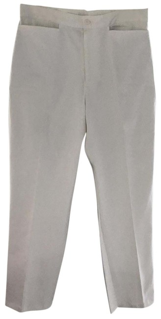 Item - Bright White Casual Stretch Pants Size 12 (L, 32, 33)