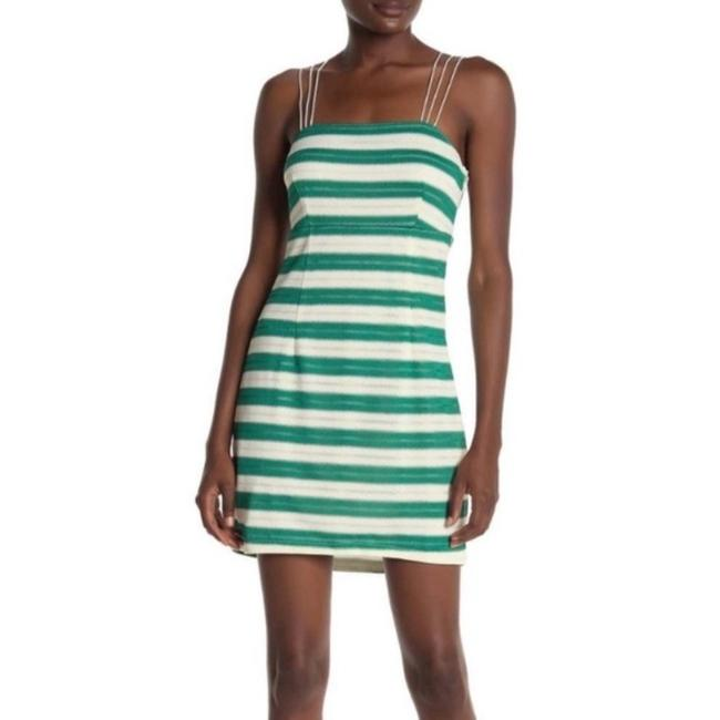 Item - Green & White Clarissa Striped Mini Short Casual Dress Size 6 (S)