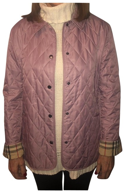 Item - Lilac Diamond Quilted Jacket Size 8 (M)