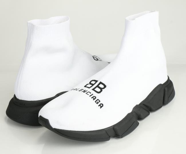 Item - White/Black Recycled Speed Sneakers Shoes