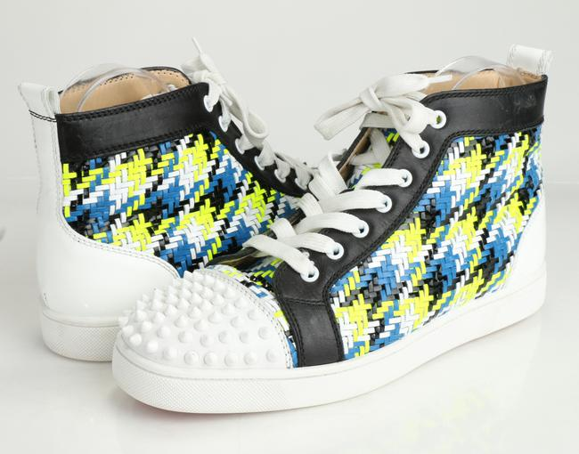 Item - Multicolor Louis Woven Spiked Cap Toe High Top Sneakers Shoes