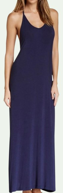Item - Navy Strappy Racer Back Blue Long Casual Maxi Dress Size 8 (M)