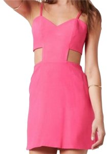 Naven short dress pink on Tradesy