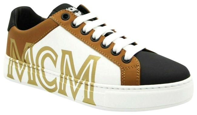 Item - White/Black/Brown Cognac White/Black Leather Low-top 35/Us Mes9amm16co Sneakers Size US 5 Regular (M, B)