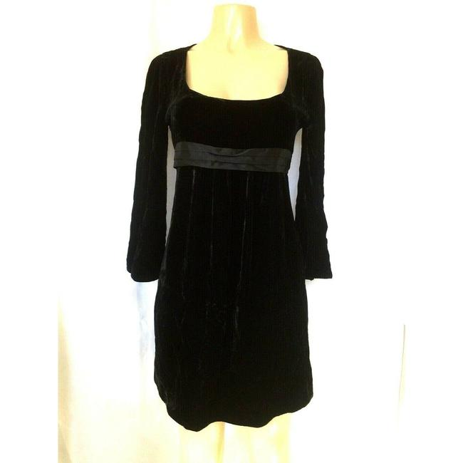 Item - Black Celida Velvet Short Casual Dress Size 8 (M)