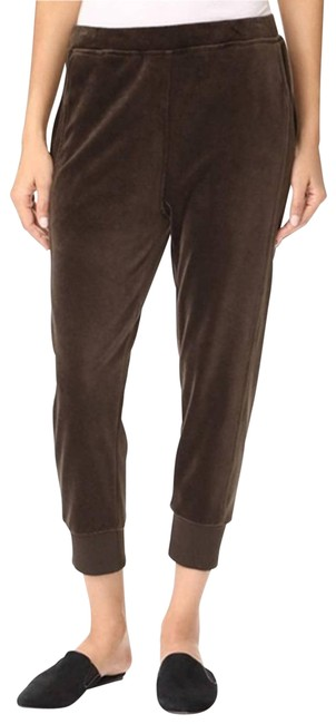 Item - Brown Velour Cuffed Jogger Pants Size 8 (M, 29, 30)