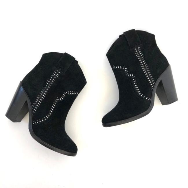 Item - Black and Silver Suede Studded Heeled Ankle Boots/Booties Size EU 38 (Approx. US 8) Regular (M, B)