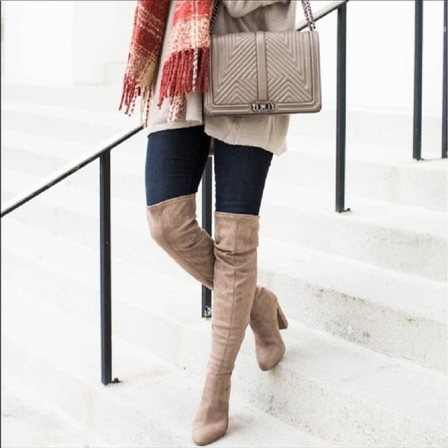 Item - Taupe Microsuede Over The Knee Boots/Booties Size US 7 Regular (M, B)