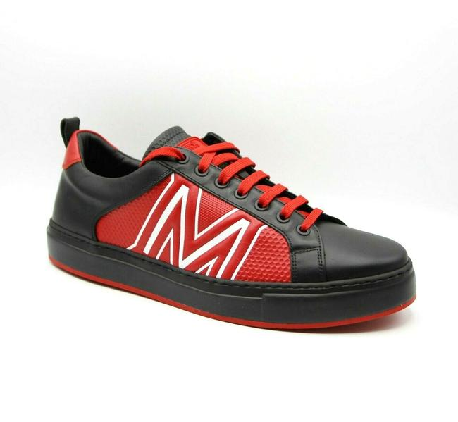 Item - Black/Red Black/Red Leather Low-top Sneaker with Logo 44/Us 11 Mex9ara73bk Shoes
