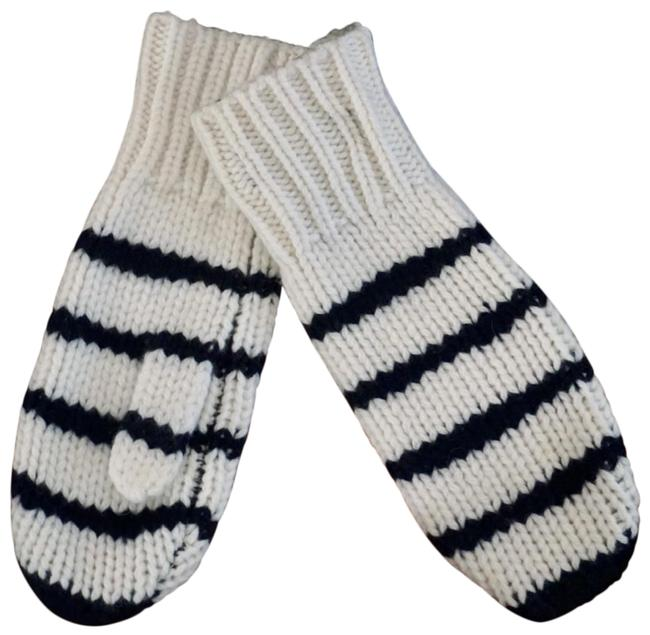 Item - White Navy Sam Lambswool Knit Mittens New