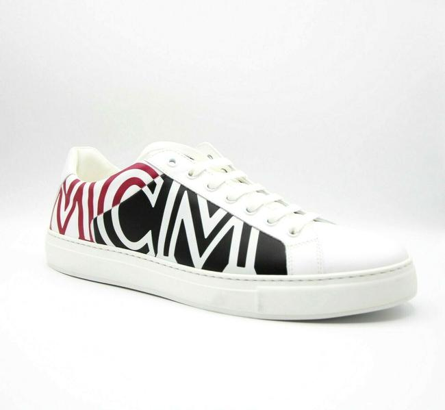 Item - White Leather Low-top Sneaker with Logo Eu 41/Us 8 Mex9smm17wt Shoes