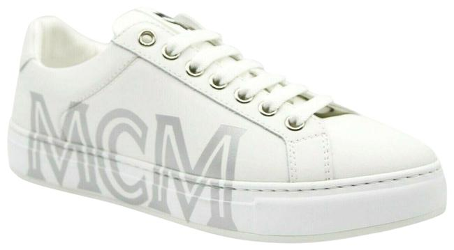 Item - White Leather Silver Logo Low-top 40/Us Mes9smm16wt Sneakers Size US 10 Regular (M, B)