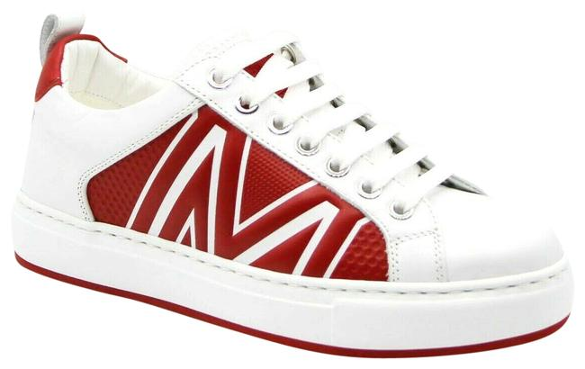 Item - White/Red Leather Logo Low-top 36/Us Mes9ara73wt Sneakers Size US 6 Regular (M, B)