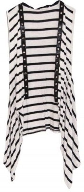 Preload https://item3.tradesy.com/images/ginger-g-grey-and-black-flowing-striped-vest-tunic-size-8-m-28422-0-0.jpg?width=400&height=650