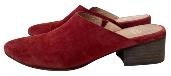 Item - Red Sylvia Suede Block Heel Mules/Slides Size US 7 Regular (M, B)