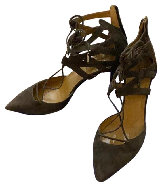 Item - Brown Kitten Heel Suede Formal Shoes Size EU 35.5 (Approx. US 5.5) Regular (M, B)