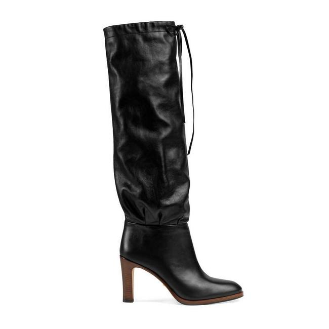 Item - Black 549680 Pinched Leather Knee Boots/Booties Size EU 40 (Approx. US 10) Regular (M, B)