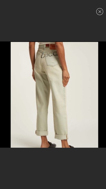 Gucci Light Wash Stone Bleac Relaxed Fit Jeans Size 6 (S, 28) Gucci Light Wash Stone Bleac Relaxed Fit Jeans Size 6 (S, 28) Image 2