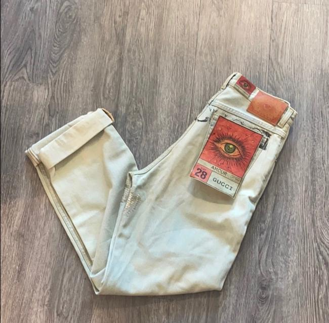 Gucci Light Wash Stone Bleac Relaxed Fit Jeans Size 6 (S, 28) Gucci Light Wash Stone Bleac Relaxed Fit Jeans Size 6 (S, 28) Image 4