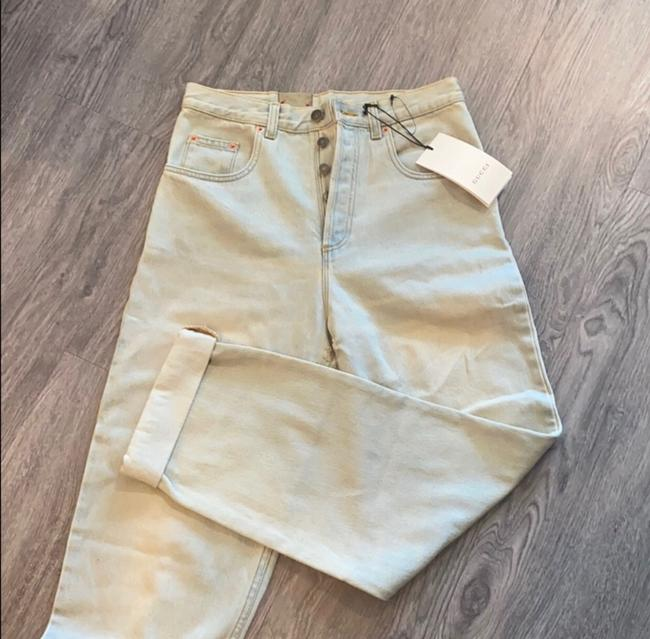 Gucci Light Wash Stone Bleac Relaxed Fit Jeans Size 6 (S, 28) Gucci Light Wash Stone Bleac Relaxed Fit Jeans Size 6 (S, 28) Image 5
