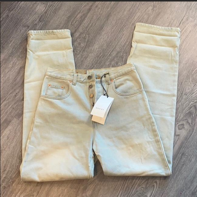 Gucci Light Wash Stone Bleac Relaxed Fit Jeans Size 6 (S, 28) Gucci Light Wash Stone Bleac Relaxed Fit Jeans Size 6 (S, 28) Image 6