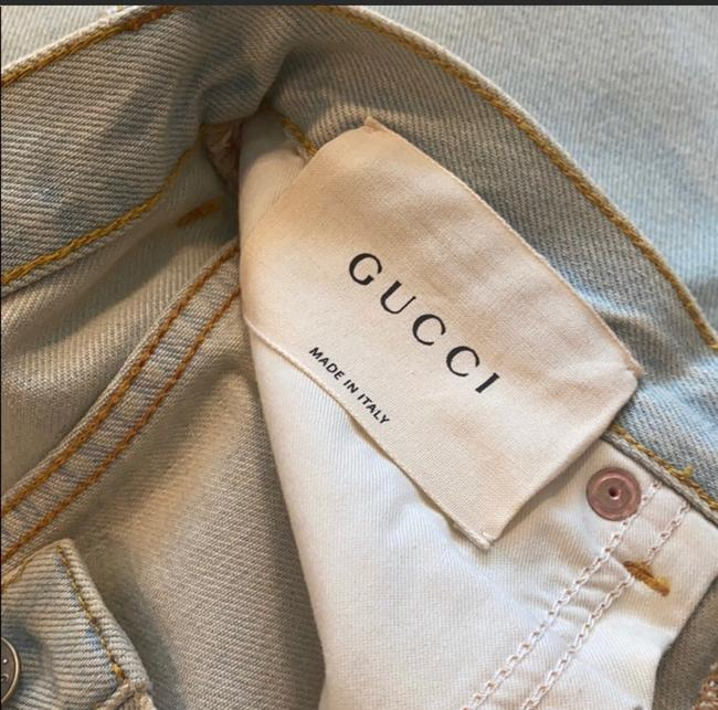 Gucci Light Wash Stone Bleac Relaxed Fit Jeans Size 6 (S, 28) Gucci Light Wash Stone Bleac Relaxed Fit Jeans Size 6 (S, 28) Image 7