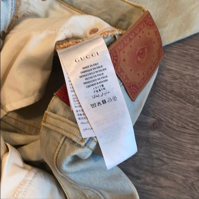Gucci Light Wash Stone Bleac Relaxed Fit Jeans Size 6 (S, 28) Gucci Light Wash Stone Bleac Relaxed Fit Jeans Size 6 (S, 28) Image 8