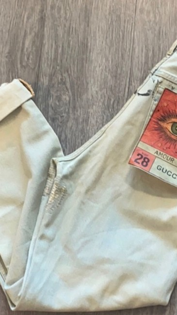 Gucci Light Wash Stone Bleac Relaxed Fit Jeans Size 6 (S, 28) Gucci Light Wash Stone Bleac Relaxed Fit Jeans Size 6 (S, 28) Image 9
