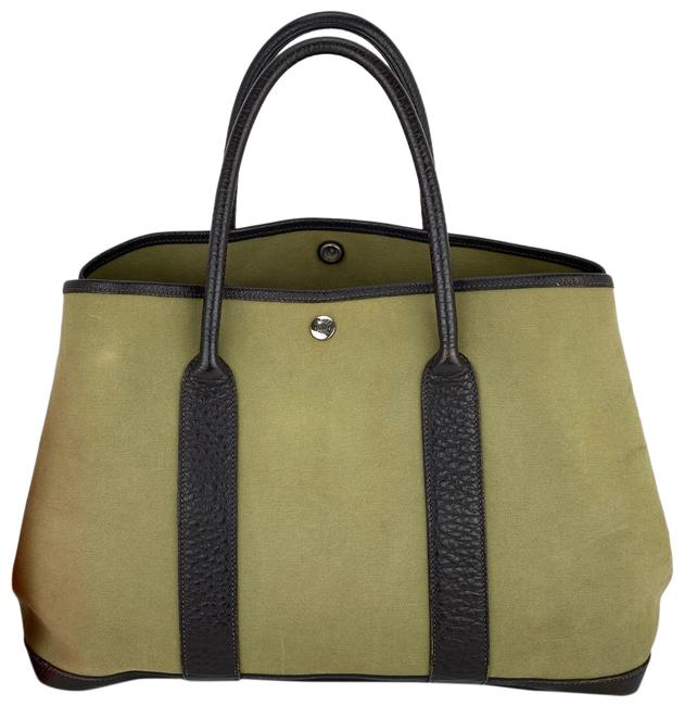 Item - Garden Party 36 Toile B266 Olive Green Canvas Tote