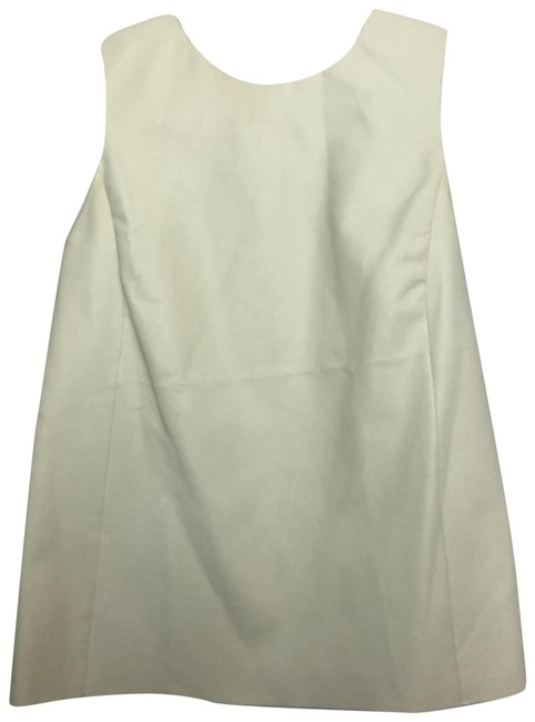 Item - White/Cream Leather Tank Top/Cami Size 4 (S)