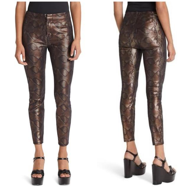 Item - Brown Coated The Looker Snake High Waist Pants Skinny Jeans Size 4 (S, 27)