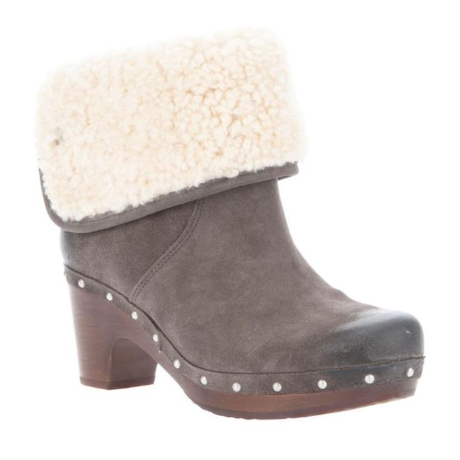 Item - Gray Lynnea Suede Heel 3204 Cuffed Fur Fleece Boots/Booties Size US 6 Regular (M, B)