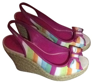 Coach Stripe Wedges