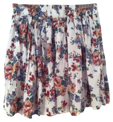 Brandy Melville Floral Print Mini Mini Skirt Multicolor