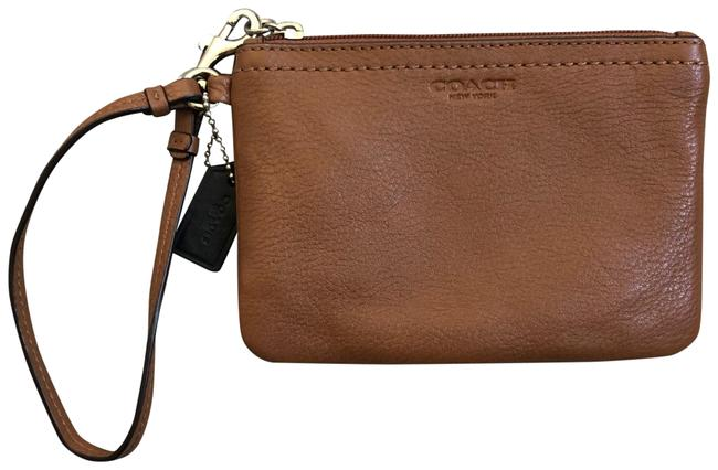 Item - Pebbled Brown Leather Wristlet