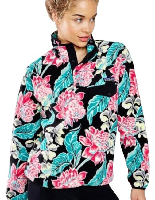 Item - Multi-color Synchilla Tropical Floral Fleece Pullover Activewear Size 8 (M)