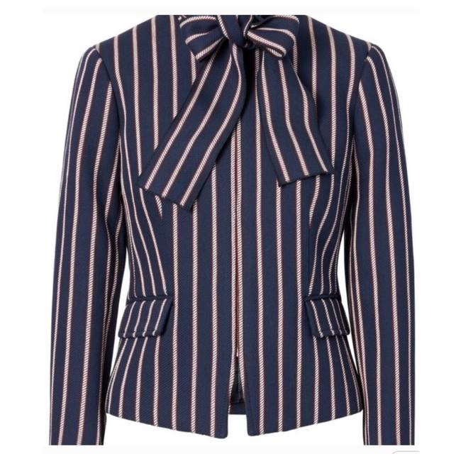 Item - Navy Red Striped with Removable Tie At Neck. White and Red. Blazer Size 2 (XS)