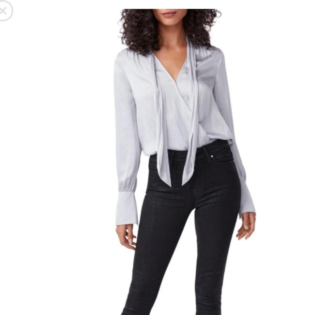 Item - Black Croc Luxe Dark Rinse A Leather-like Coating and Tonal Print Amp The Sophistication Of These Soft Stretchy High-waisted That Offer Shape Skinny Jeans Size 27 (4, S)