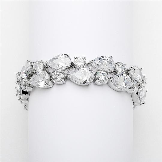 Silver/Rhodium Hollywood Glamour Brilliant Crystal Bracelet