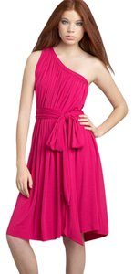 Rachel Pally short dress Fuchsia One-shoulder on Tradesy
