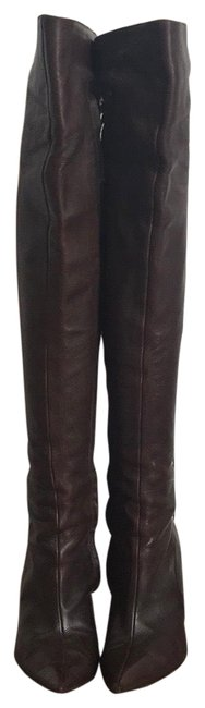 Item - Brown Over The Knee Boots/Booties Size EU 36.5 (Approx. US 6.5) Regular (M, B)