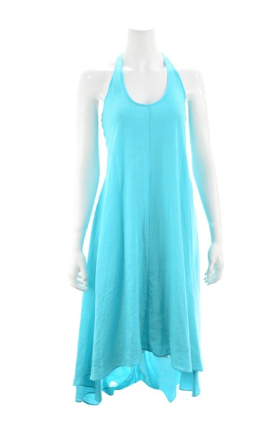 Item - Turquoise Linen Long Casual Maxi Dress Size 0 (XS)