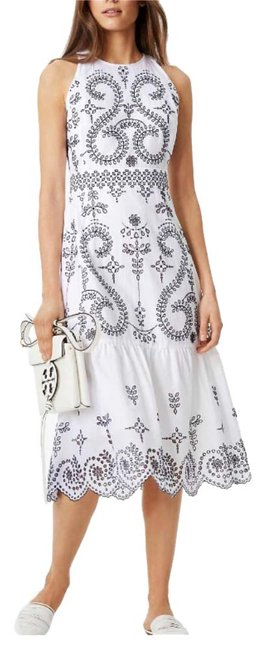 Item - White Mariana Mid-length Night Out Dress Size 4 (S)