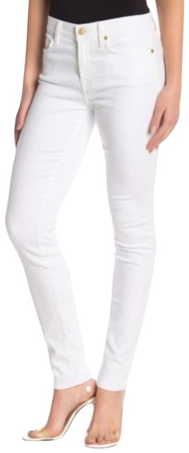 Item - White Light Wash 7famk Gwenevere Skinny Jeans Size 2 (XS, 26)