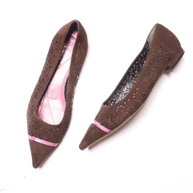 Item - Brown Suede Pointed 8.5b Flats Size US 8.5 Regular (M, B)