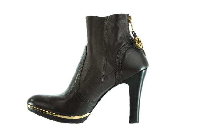 Item - Brown Two-tone Leather Heeled Boots/Booties Size US 7.5 Regular (M, B)