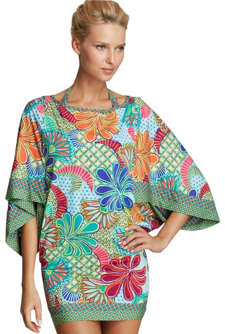 Item - Multicolor Floral Swimwear Cover-up/Sarong Size 6 (S)