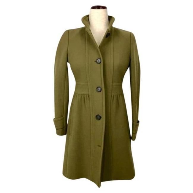 Item - Green Factory Olive Lady Wool Blend Button Front Coat Size Petite 8 (M)