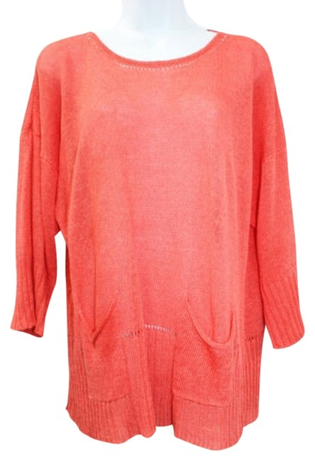 Preload https://item2.tradesy.com/images/cupio-coral-linen-blend-knit-l-blouse-size-12-l-2842666-0-0.jpg?width=400&height=650